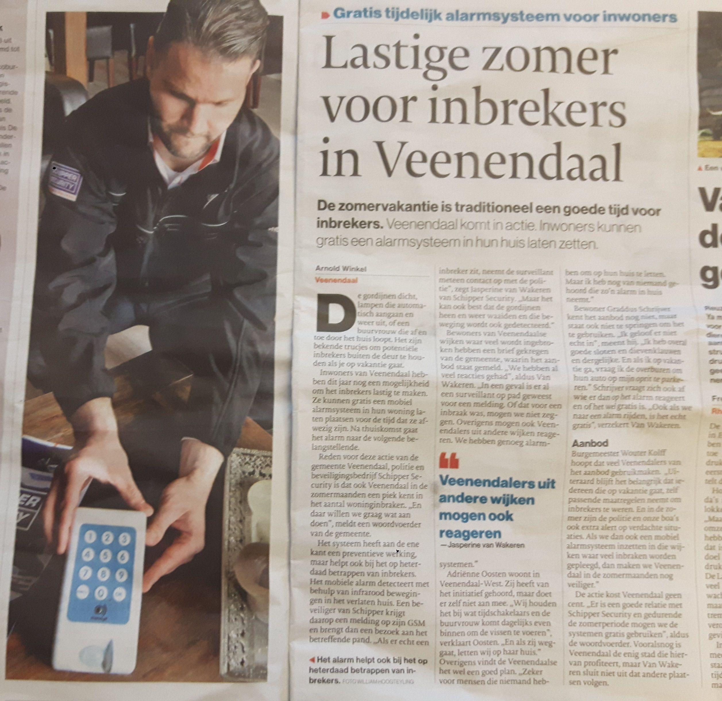 Lastige zomer voor inbrekers in Veenendaal